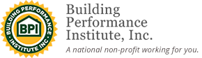 Building Performance Institute Logo, a partner in home efficiency and weatherization