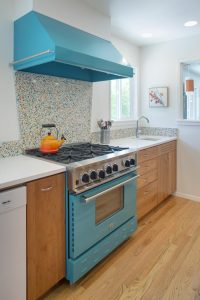 Example of remodeled kitchen stove